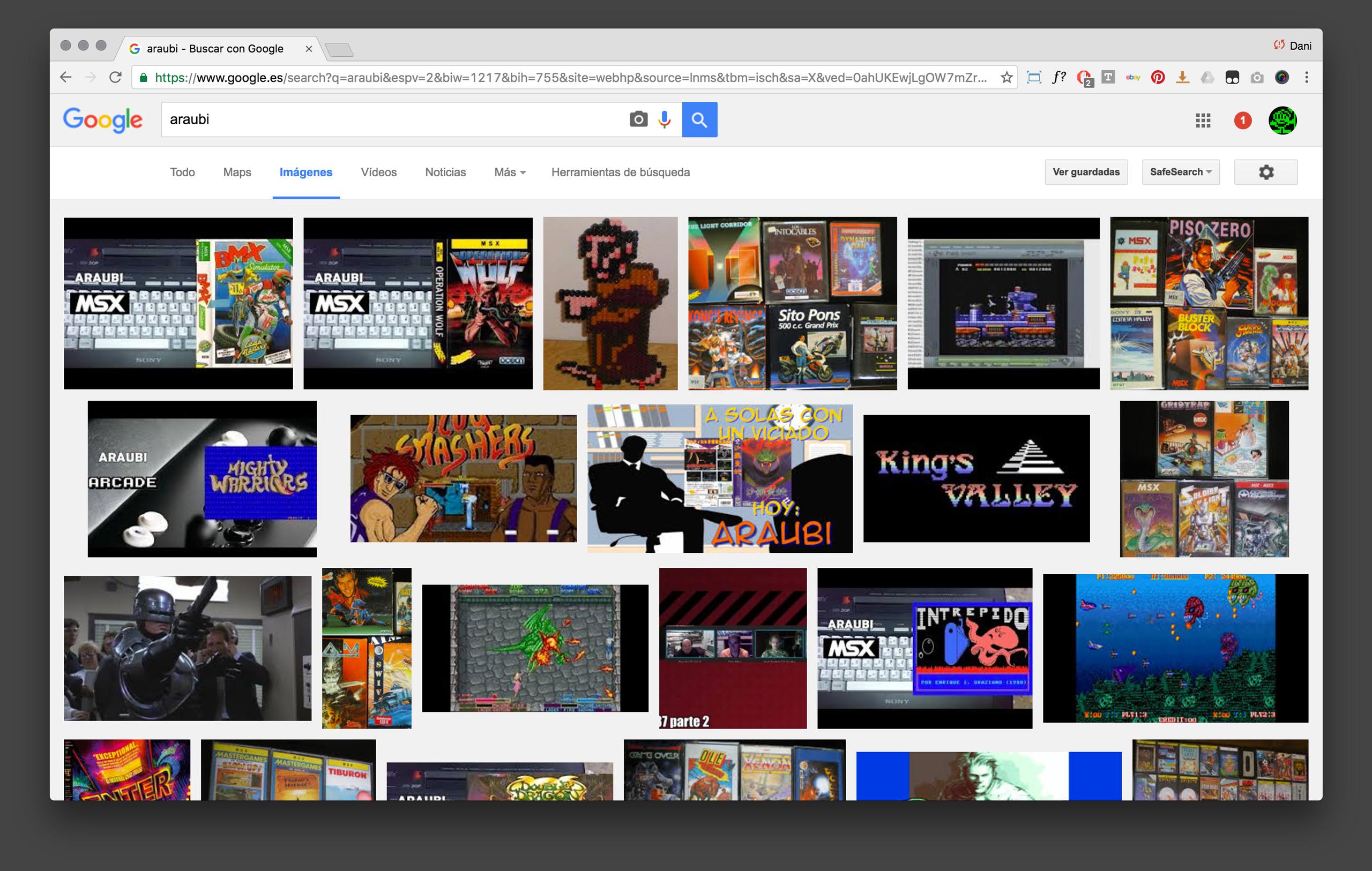 Araubi en Google
